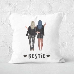 Pressed Flowers Bestie Square Cushion