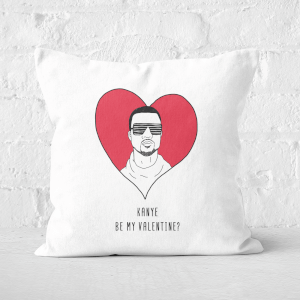 Kanye Be My Valentine? Square Cushion