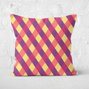 Pressed Flowers Circus Pattern Square Cushion