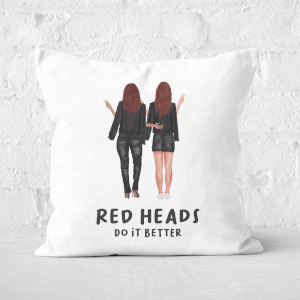 Pressed Flowers Red Heads Do It Better Square Cushion