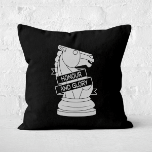 Knight Chess Piece Square Cushion