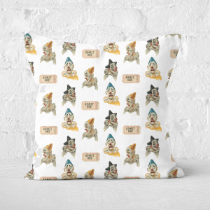 Pressed Flowers Circus Clown Pattern Square Cushion