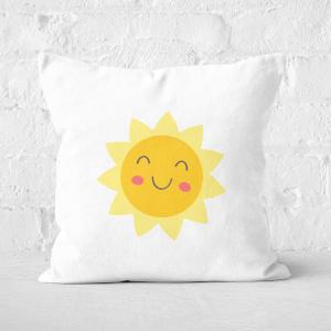 Pressed Flowers Spring Sunshine Square Cushion