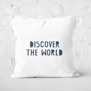 Discover The World Square Cushion