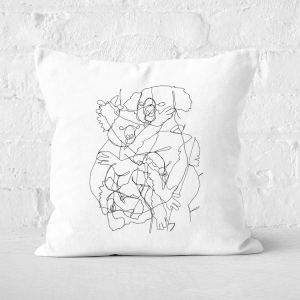 Pressed Flowers Koala Scribbles Square Cushion