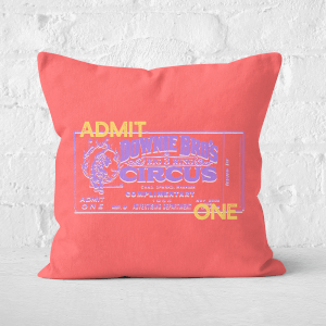 Pressed Flowers Circus Admittance Square Cushion