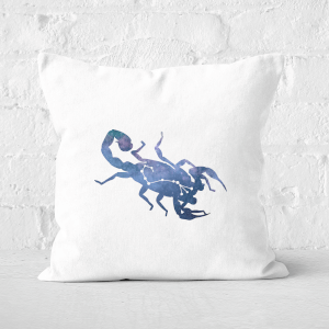 Pressed Flowers Scorpio Square Cushion