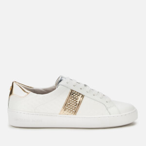 MICHAEL MICHAEL KORS Women's Irving Stripe Cupsole Trainers - Optic White