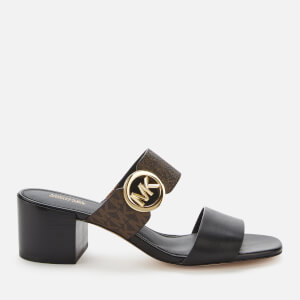 MICHAEL MICHAEL KORS Women's Summer Mid Heeled Mules - Black