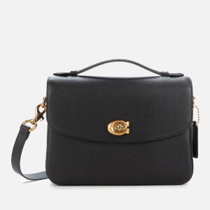 Coach Women's Polished Pebbled Leather Cassie Cross Body Bag - Black