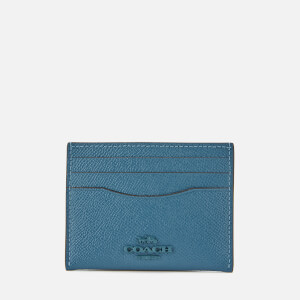 Coach Women's Crossgrain Flat Card Case - Lake