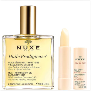 NUXE Huile Prodigieuse Oil and Lip Stick Duo (Worth £35.50)