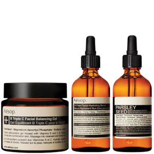 Aesop Lightweight Serum, Parsley Seed Serum and Facial Balancing Gel Bundle