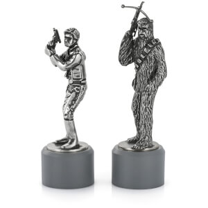 Royal Selagnor Star Wars Pewter Chesspieces - Han Solo and Chewbacca (Bishop)
