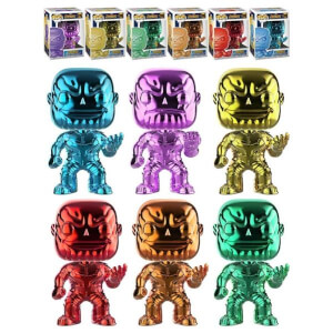 Marvel Thanos Chrome EXC Pop! Vinyl - Pop! Collection