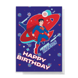 Superman Krypton Happy Birthday Greetings Card