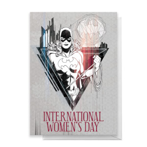 BatGirl International Women's Day Greetings Card