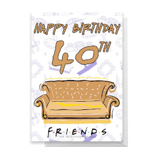 Friends Birthday 40th Greetings Card