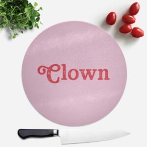 Clown Round Chopping Board