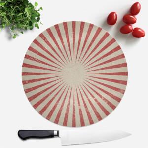 Circus Beams Red Round Chopping Board