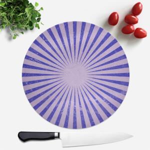 Circus Beams Purple Round Chopping Board