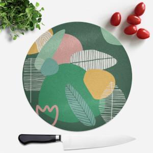 Earth Garden Print Round Chopping Board