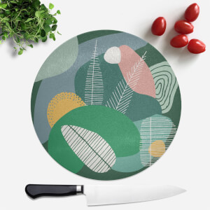 Deep Earth Tones Round Chopping Board
