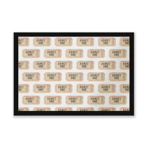 Circus Ticket Pattern Entrance Mat