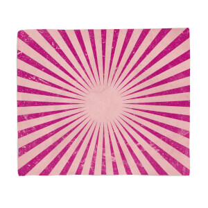 Circus Beams Pink Fleece Blanket