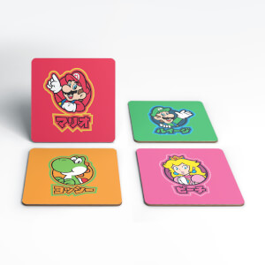 Nintendo Super Mario Good Guys Kanji Coaster Set