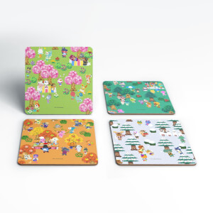 Nintendo Animal Crossing Seasonal Coaster Set