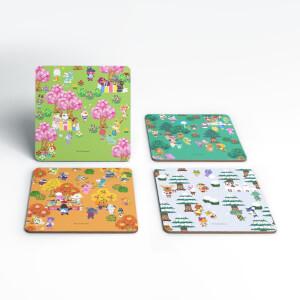 Set Sottobicchieri Nintendo Animal Crossing Stagioni