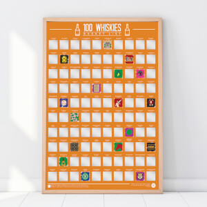 100 Whiskies Scratch Off Bucket List Poster