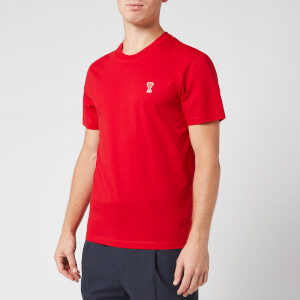 AMI Men's De Coeur T-Shirt - Red