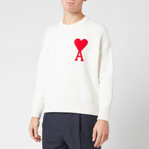 AMI Men's Coeur Jumper - White