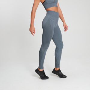 MP Raw Training Ribbed Seamless Leggings för kvinnor – Blå