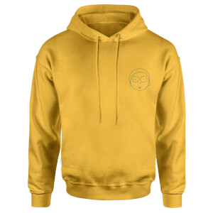 Rick and Morty Morty Embroidered Unisex Hoodie - Yellow
