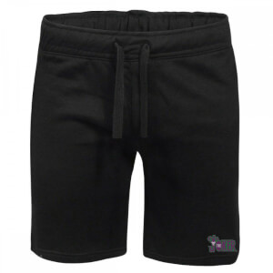DC Joker Embroidered Unisex Jogger Shorts - Black