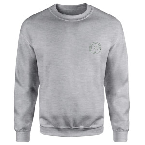Rick and Morty Morty Embroidered Unisex Sweatshirt - Grey