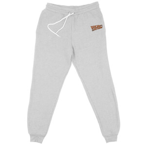 Back To The Future Logo Embroidered Unisex Joggers - Grey