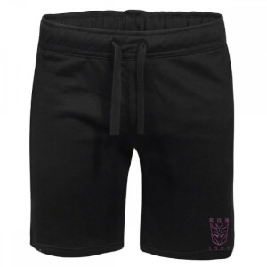Transformers Decepticons Embroidered Unisex Jogger Shorts - Black