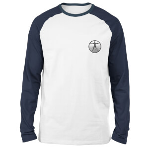 Westworld Logo Embroidered Unisex Long Sleeved Raglan T-Shirt - White/Navy
