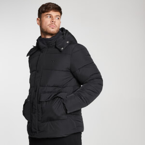 MP Essential Wattierte Herrenjacke – Schwarz