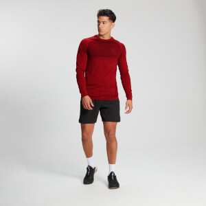 MP Men's Essential Long Sleeve Seamless T-Shirt - Danger Marl