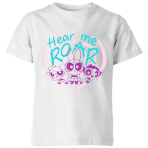 The Powerpuff Girls Hear Me Roar Kids' T-Shirt - White