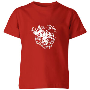 The Powerpuff Girls Sugar Spice And Everything Nice Kids' T-Shirt - Red