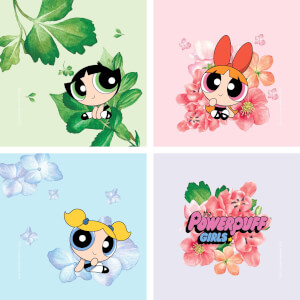 The Powerpuff Girls Floral Coaster Coaster Set