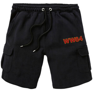 Shorts Cargo DC Wonder Woman WW84 - Brodé - Noir - Unisexe