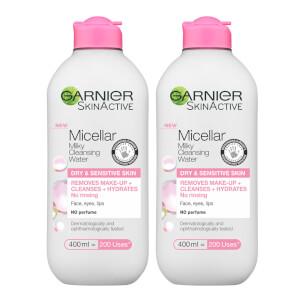 Garnier Micellar Milk Cleansing Water 400ml Duo Pack