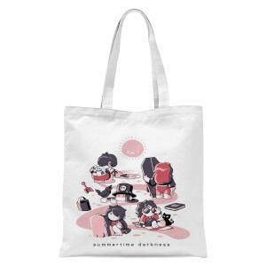 Ilustrata Summertime Darkness Tote Bag - White